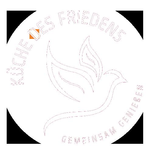 logo kueche des friedens weiss